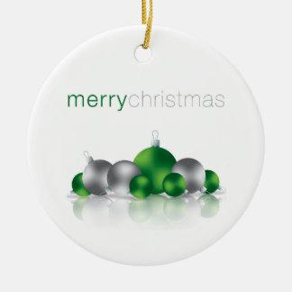Weihnachtsflitter Rundes Keramik Ornament