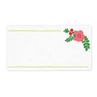 Weihnachtsflora-Aufkleber Versandetiketten