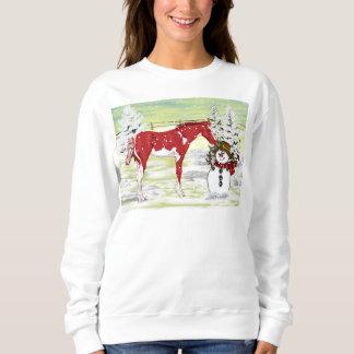 Weihnachtsfohlen und -Schneemann Sweatshirt