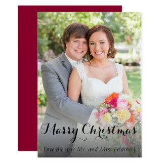 WeihnachtsFoto-Karte gerade verheiratet 12,7 X 17,8 Cm Einladungskarte