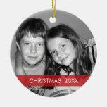 WeihnachtsFoto-Rahmen - modern Rundes Keramik Ornament