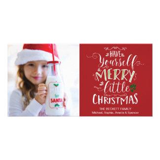 WeihnachtsFotokarte - haben Sie sich ein Karte