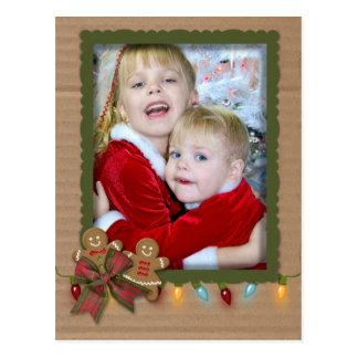 WeihnachtsFotorahmen auf Pappe Postkarte