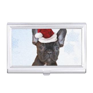 Weihnachtsfranzösische Bulldogge Visitenkarten Etui