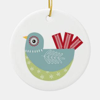 Weihnachtsfranzösische Henne I Keramik Ornament