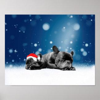 Weihnachtsfranzösische Poster