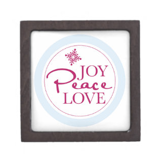 Weihnachtsfreude-Friedens-u. Liebe-Schneeflocke Kiste