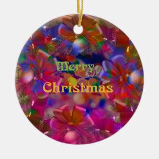 Weihnachtsfreude Rundes Keramik Ornament