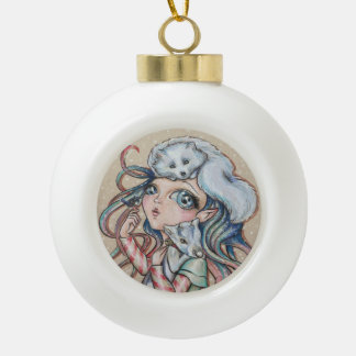 Weihnachtsfreunde Keramik Kugel-Ornament