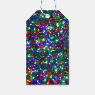 Weihnachtsfunkelnde Sterne Geschenkanhänger
