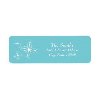 Weihnachtsfunkelndes Schneeflocke-Adressen-Etikett