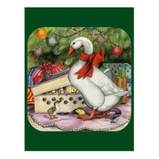 Weihnachtsgans Postkarte