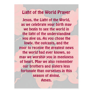 Weihnachtsgebet Postkarte