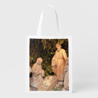 WeihnachtsGeburt Christis-Szene mit der heiligen Wiederverwendbare Einkaufstasche