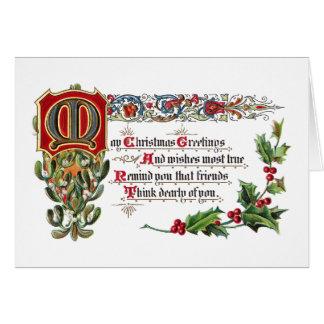 Weihnachtsgedicht für Freunde Grußkarte