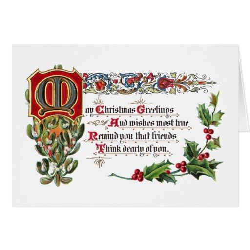 Weihnachtsgedicht für Freunde Karte