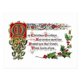 Weihnachtsgedicht für Freunde Postkarte