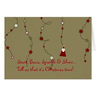 Weihnachtsgedicht-Weihnachtskarte Grußkarten