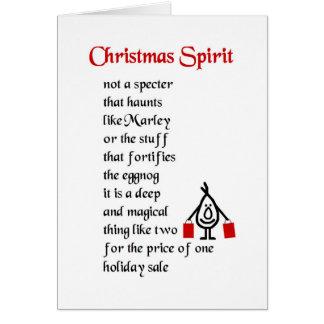 Weihnachtsgeist - ein lustiges Weihnachtsgedicht Grußkarte