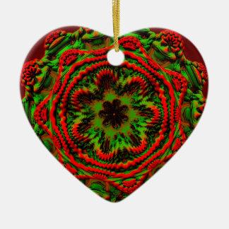Weihnachtsgeist mit den grünen und keramik ornament