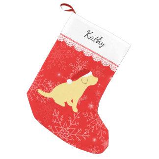 Weihnachtsgelber Labrador-Welpen-Strumpf Kleiner Weihnachtsstrumpf
