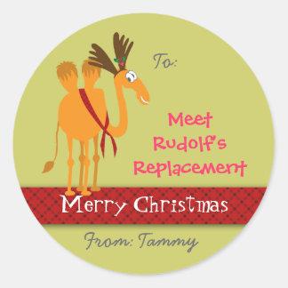 Weihnachtsgeschenk-Aufkleber - kundengerecht