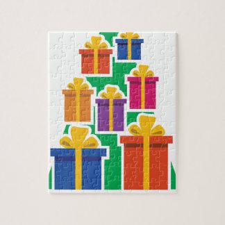 Weihnachtsgeschenk-Baum Puzzle