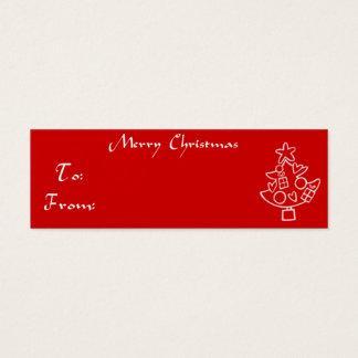 Weihnachtsgeschenk-Umbau-Weihnachtsbaum Mini Visitenkarte