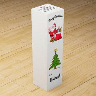 Weihnachtsgeschenk-Wein-Kasten Ihr Namenskleines Weinbox