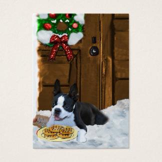 Weihnachtsgeschenke Bostons Terrier Visitenkarte