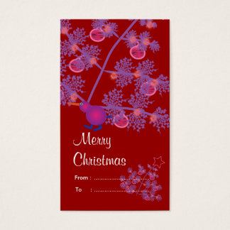 Weihnachtsgeschenkumbauten: Kiwi-Vogel Visitenkarte