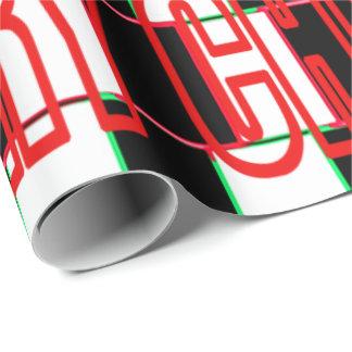 Weihnachtsgestreiftes Illusions-Packpapier Geschenkpapier