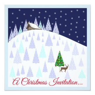 Weihnachtsgetränk-und -Canapes-Einladung Karte