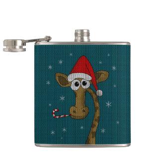 Weihnachtsgiraffe Flachmann