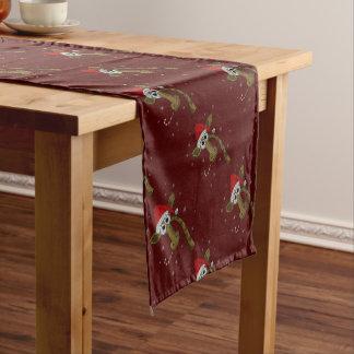 Weihnachtsgiraffe Kurzer Tischläufer