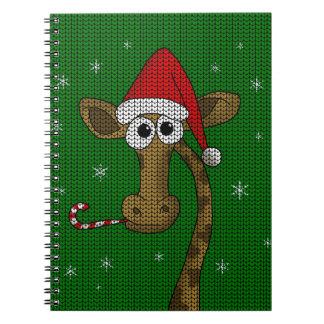 Weihnachtsgiraffe Notizblock