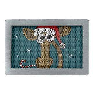 Weihnachtsgiraffe Rechteckige Gürtelschnallen