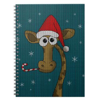Weihnachtsgiraffe Spiral Notizblock
