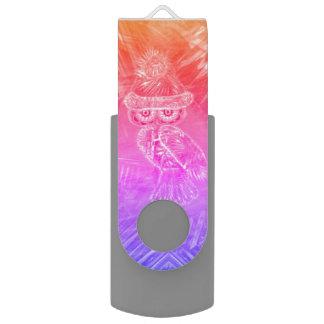 WeihnachtsGlamour-Mode-Sankt-Eule USB FlashDrive USB Stick