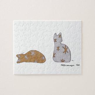 WeihnachtsGlitzer-Katzen-Puzzlespiel Puzzle