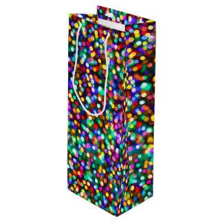 Weihnachtsglühende Lichter Geschenktüte Für Weinflaschen
