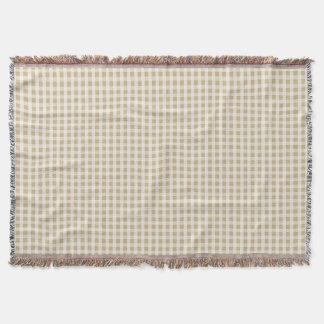 Weihnachtsgoldgingham-Karo-Muster Decke