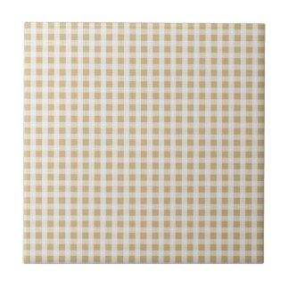 Weihnachtsgoldgingham-Karo-Muster Fliese