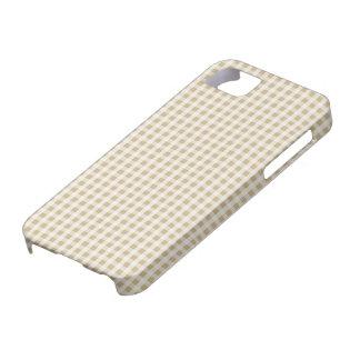 Weihnachtsgoldgingham-Karo-Muster Hülle Fürs iPhone 5