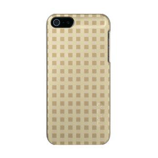 Weihnachtsgoldgingham-Karo-Muster Incipio Feather® Shine iPhone 5 Hülle