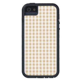 Weihnachtsgoldgingham-Karo-Muster iPhone 5 Hüllen