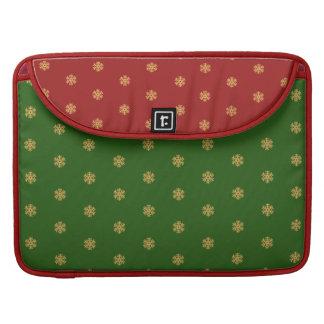 Weihnachtsgoldschneeflockemuster, kundengerechtes sleeve für MacBook pro