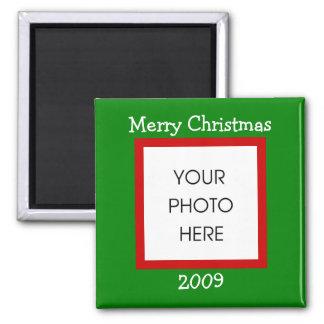 Weihnachtsgrenze - frohe Weihnachten Quadratischer Magnet