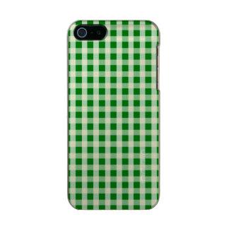 Weihnachtsgrüner Gingham-Karo kariert Incipio Feather® Shine iPhone 5 Hülle