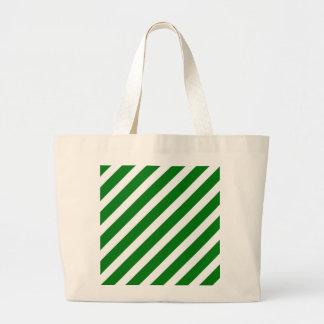 Weihnachtsgrüner u. weißer diagonaler jumbo stoffbeutel
